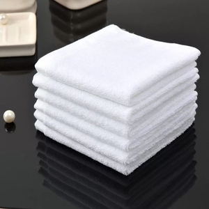 Soft High Absorbency 100% Cotton 35x35cm 70g White Face Towel
