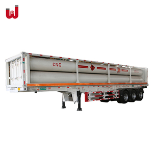 CNG semi trailer / CNG long tube skid container trailer / CNG 4/6/8 bundle tube skid container