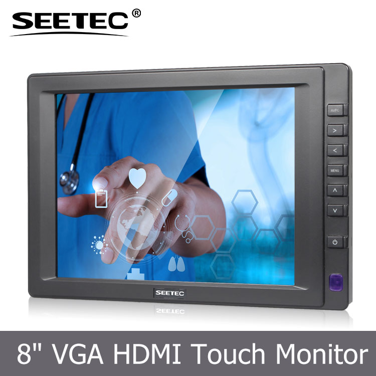 SEETEC 2.4GHz 4CH gps touch monitor and vandal-proof for wireless CCTV camera ST813