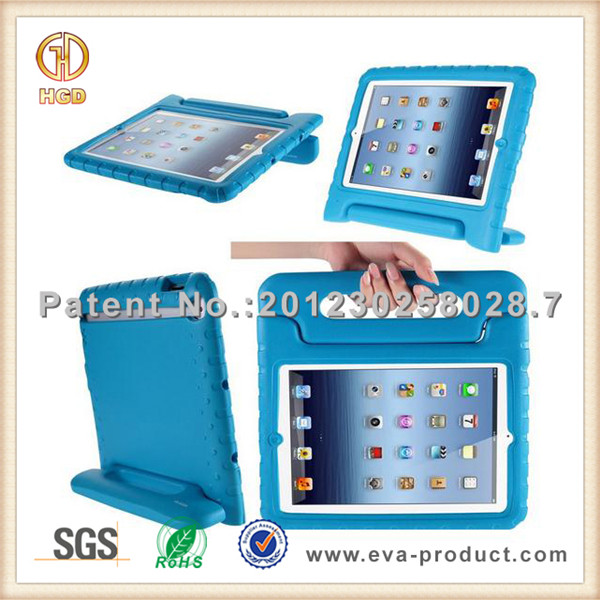 EVA foam light weight shockproof for ipad case and rotatable stand