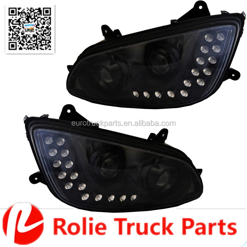 T700 American truck Blacked Out Projector Kenworth T660 Headlight