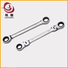 Mirror finish automobile maintenance double ring spanner double box end wrench