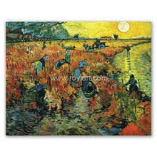 Handmade Van Gogh Reproduction Oil Painting on Canvas Red Vineyards at Arles