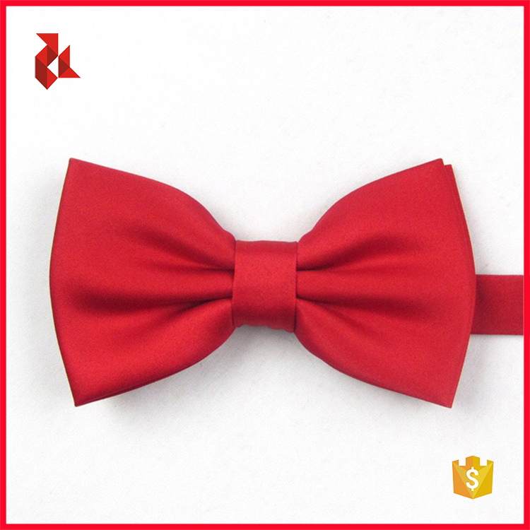 Mens Colorful Polyester Woven Satin Bow Ties