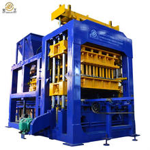 QT10-15 Automatic hydraulic concrete hollow solid blocks paving stones brick block making machine