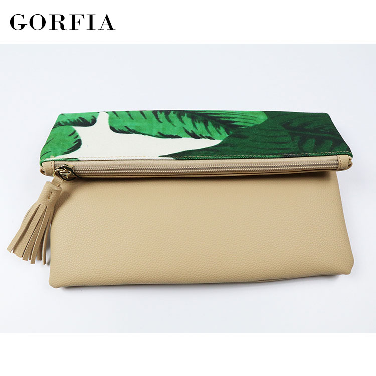 2019 Wholesale clutch bag fashion designer fancy girls purse with zip lock