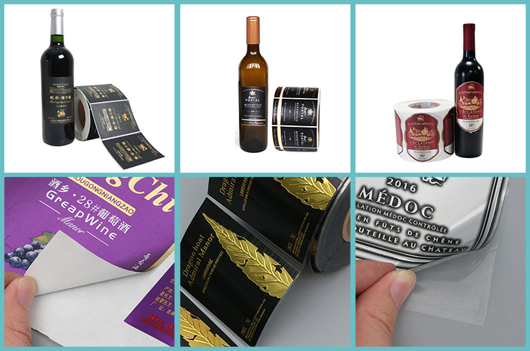 custom textured embossed wine private labels size printing paper stickers for red wine bottle