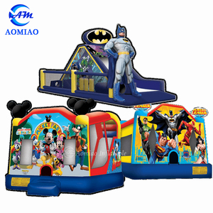 Customized brand inflatable bouncy castle used commercial bounce houses for  sale
