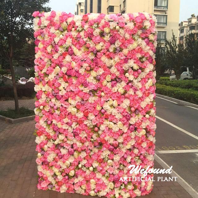 Y0225 Wefound Flowers Backdrop Silk Flower Wall Por Wedding Arrangement