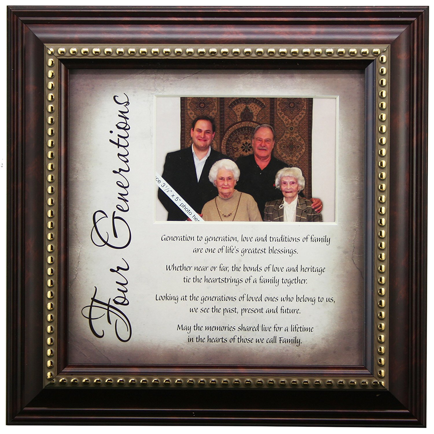 Buy 5 Generations Frame and Poem - Gift for Great Grandparents in ...