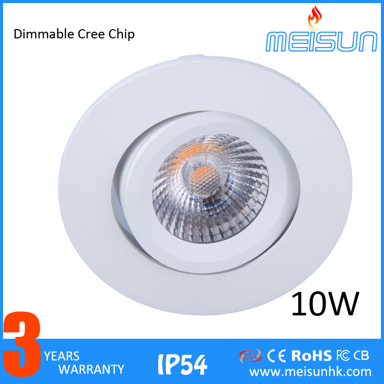 7W 10W Cutout 75mm Retrofit LED COB <strong>Downlight</strong> For Norway