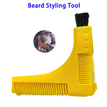Amazon Top Seller Two Sized Teeth ABS Beard Styling Template Comb Tool