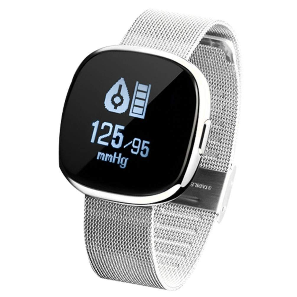 Xindda Fashion Smart Pedometer Watch for Kids Women Men, Long-Lasting, Waterproof Fitness Band Activity Tracker with Heart Rate Monitor/Step Counter/Blood Pressure Monitor, Android iOS