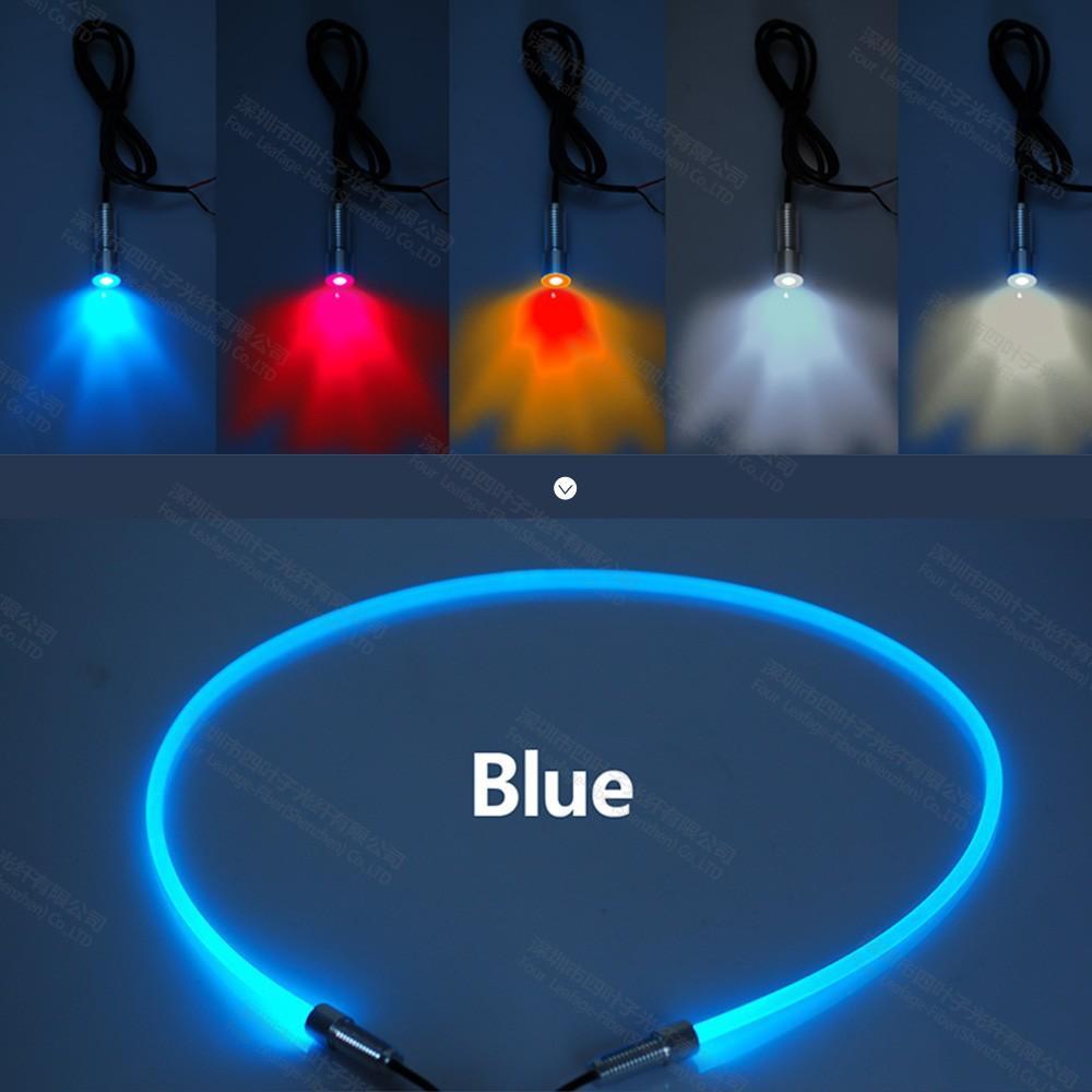 led 3 w mini rvb fiber optique lumi re projecteur pour voiture int rieur lumi re tape de bus. Black Bedroom Furniture Sets. Home Design Ideas