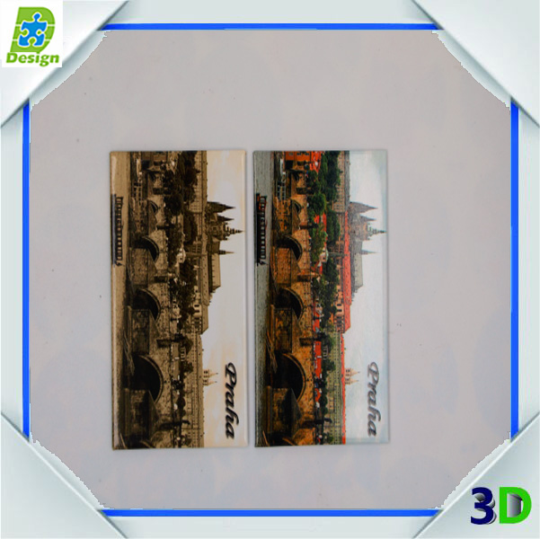 Wholesale Metal Tin 3D Fridge Magnets Custom Home Decoration Promotional Italy Tourist Souvenir Square