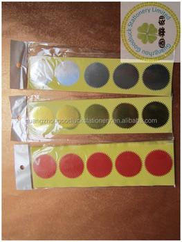 Large Gold Round Sticker Envelope Sealsembossed Metallic Foil - Custom gold foil stickers