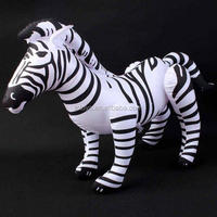 Inflatable Cute Cartoon Animal Zebra Horse Shape Blow up Doll Toy Party Favor Decoration Pool