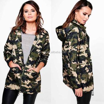 Camouflage Femme Sweat À Capuche Veste Militaire Zippé Manteau Extérieur Camo Veste À Capuche Avec Deux Poches Latérales Veste Manteau Buy Veste