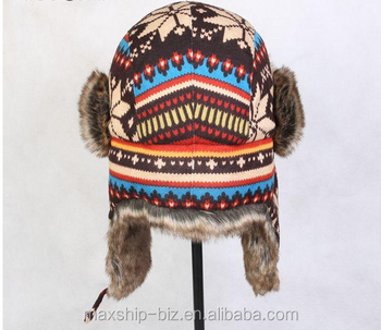 81efcf817d5 Trooper Snowflake Pilot Aviator Soft Knitted Hat - Buy Russian Style Winter  Trapper Hat