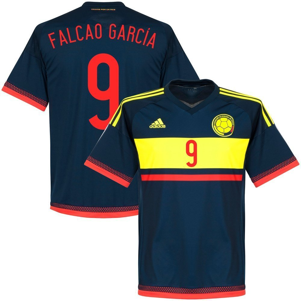 cdb2c24a3a8 Get Quotations · 2015 Colombia Away Falcao Garcia Copa America Jersey