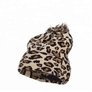 c6d43b21931 Leopard Beanie With Pom