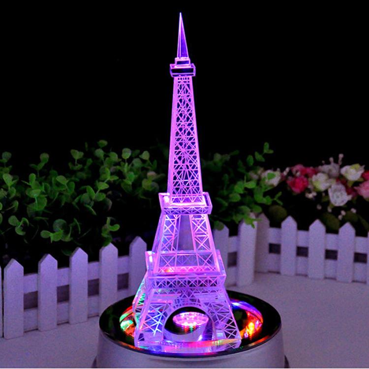 Top seller mini cristal torre eiffel wedding centros de - Mesa tower crystal ...