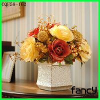For wedding table doceration European style beautiful artificial flowers arrangements artificial dry flowers for sale