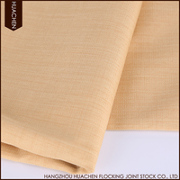 Polyester linen home decorational water proof upholster fabric