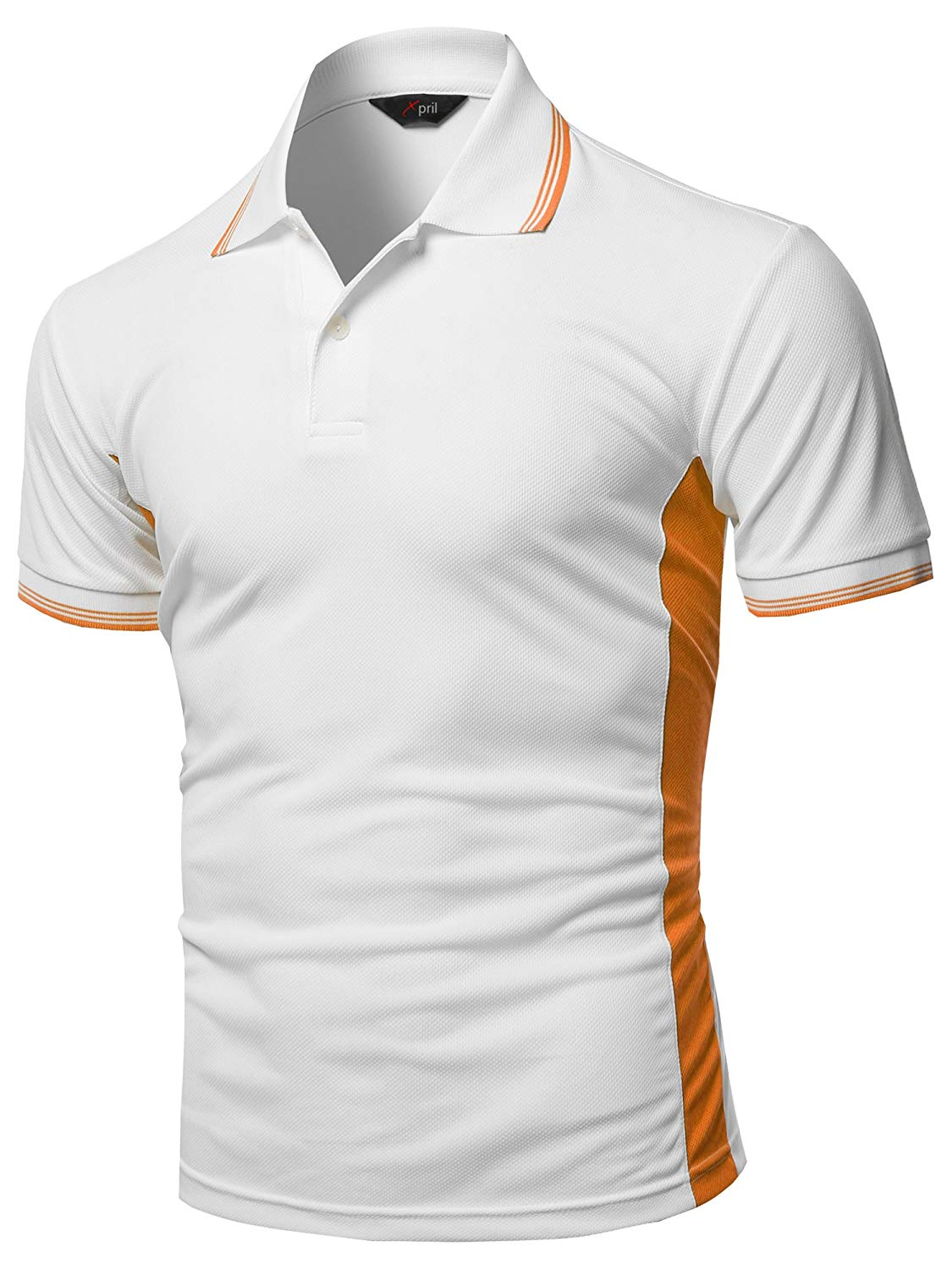 Xpril Womens Coolmax Fabric Sporty Feel Functional Short Sleeve Polo T-Shirt
