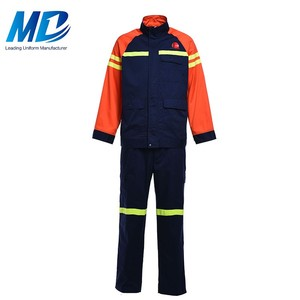 Wholesale blue and orange Safety Jumpsuits for men