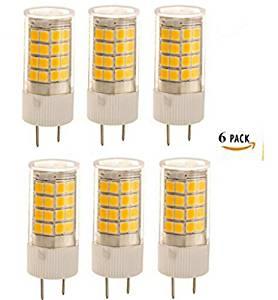 Best to Buy G8 LED Light Bulb , 3.5W (30-Watts Equivalent), 450 Lumens, 3000K (Warm White), 5000K(WHITE )100-140V, Bi-Pin Halogen Replacement (6pack, warm white (3000K))