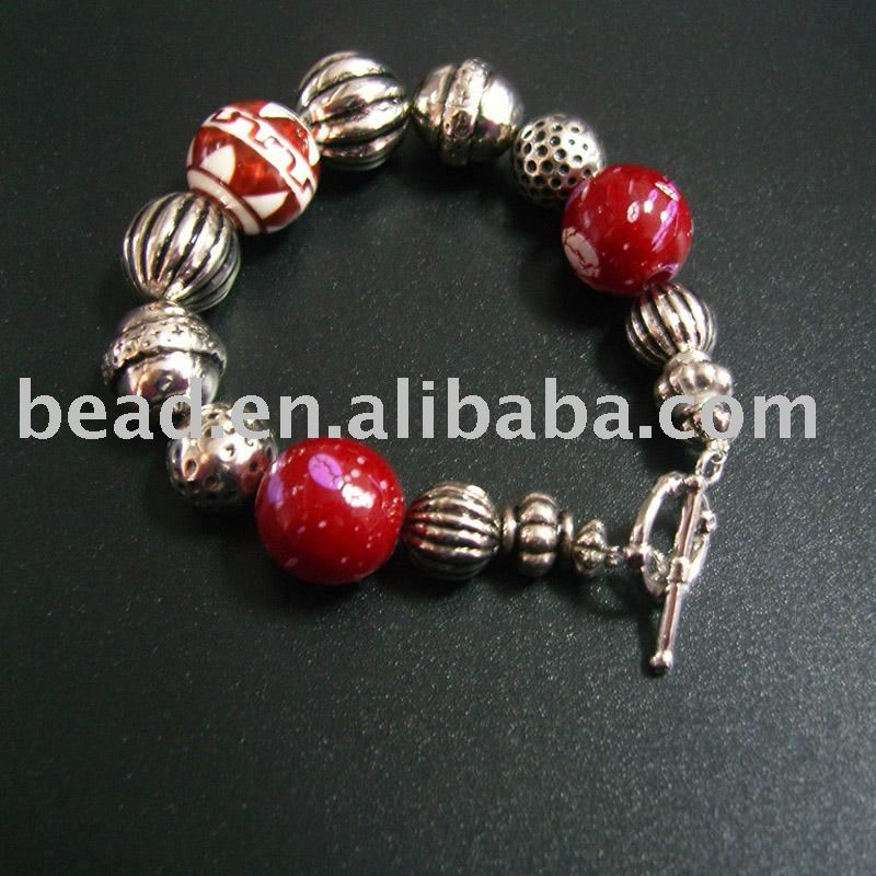 BR51900319 glass beaded bracelet