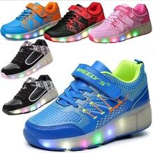 Child LED Light Wheely s Jazzy Junior Boys Wheely s roller skate shoes for children kids