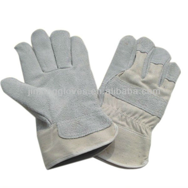Cow split leather industrial working hand gloves