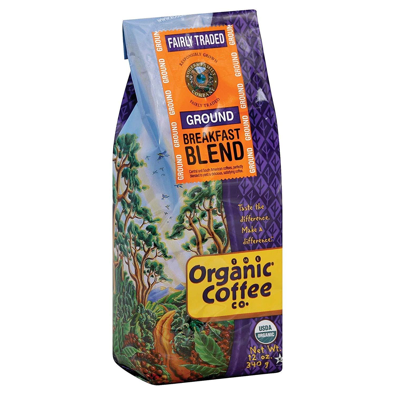 Organic Coffee Company Ground Coffee - Breakfast Blend - Case of 6-12 oz.