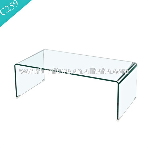 Modern Tempered Hot Bent Glass Coffee Table