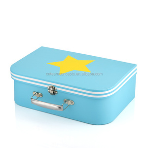 Free sample Rigid Cardboard Luggage Suitcase Box With Metal Lock