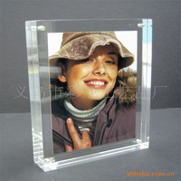 Acrylic Picture Frames; Acrylic Magnetic Frames, Clear Picture Frames, Double Sided See Through Sandwich Magnet Photo Block Two