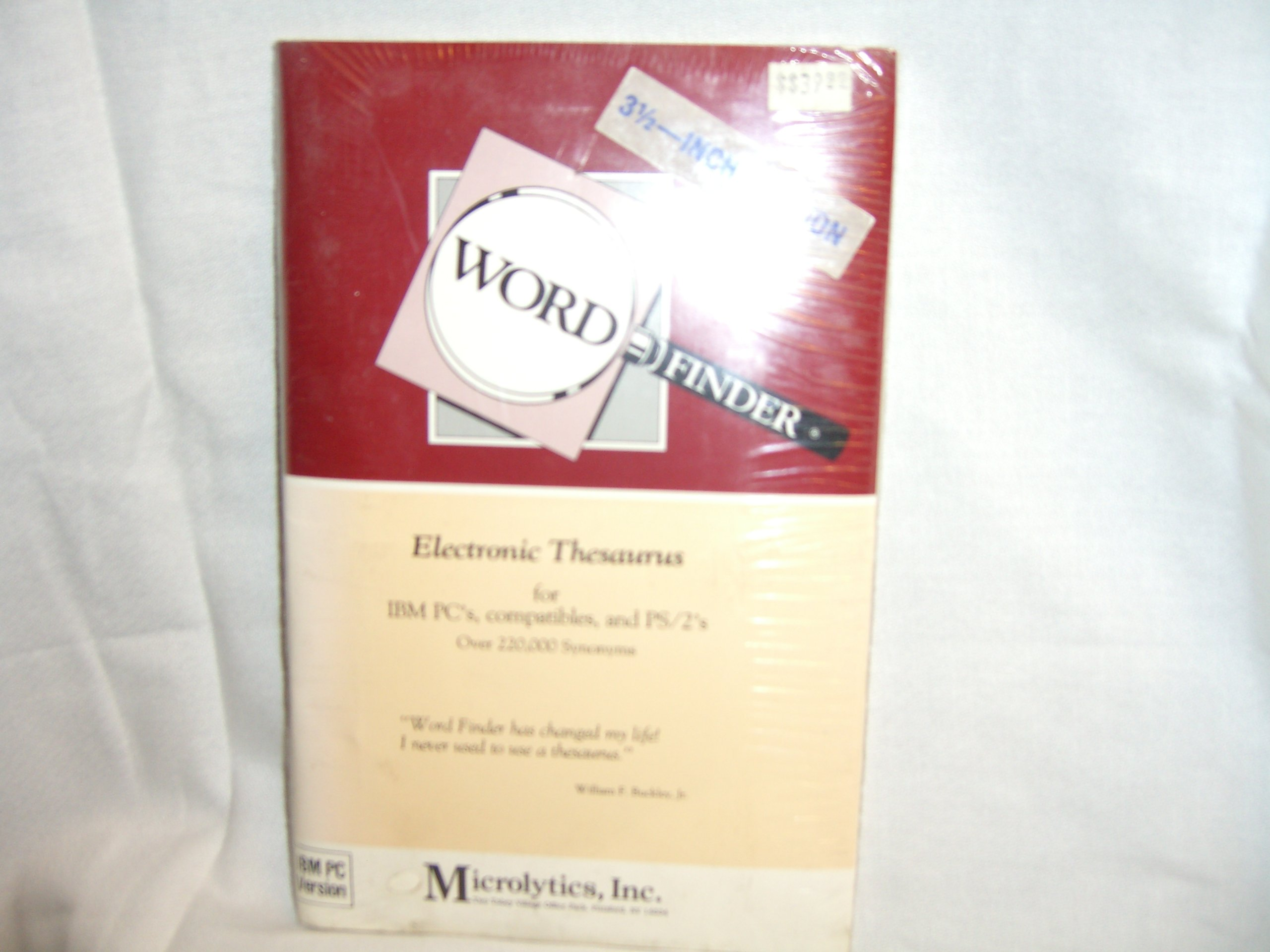 Word Finder Electronic Thesaurus