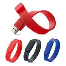 Real capacity custom logo silicone usb pendrive 4gb 8gb bracelet usb flash