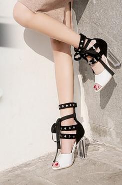 ec43763fd91 2018 Summer New Lady Crystal And Ribbon High Heel Sandals - Buy ...