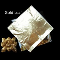 Chinese gold leaf best quality furniture gold leaf sheets 16cm imitation gold leaf for furniture decoration