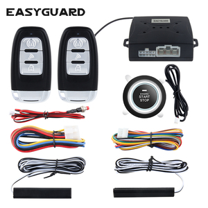 push button start stop remote starter passive keyless entry car alarm