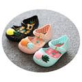 Mini Melissa Furadinha VII Girls Sandals 2016 Brand Hollow Sweet Smell Pineapple Kids Summer Shoes for