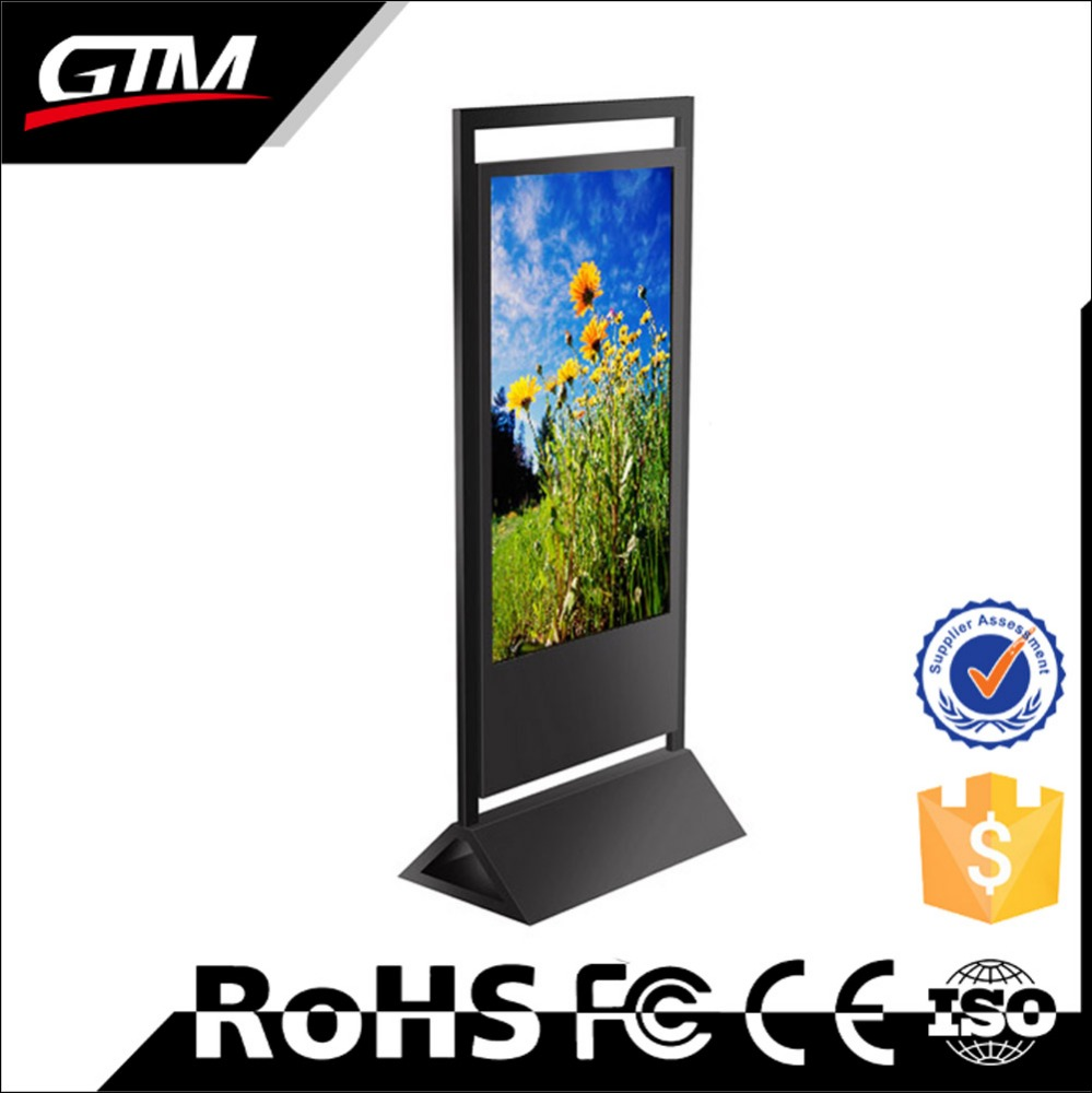 55 inch interactive screen advertisement on computers industrial monitor lcd vertical led display kiosk touch screen