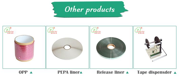 Concurrerende prijs pepa silicon film gewatteerde plakband