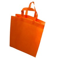 2019 Hot Selling Pure Color Shopping Bag Non-woven Tote Bag With Your Logo For Company Supermarket
