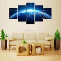 5 Panel Canvas Prints for Home Office Wall Decoration Stars Rising