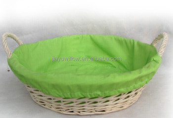 Wholesale Round Wicker Kitchen Vegetable Storage Basket Corner Wicker  Storage Basket With Liner
