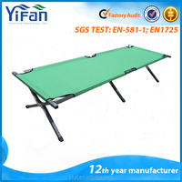 Green Deluxe Strong Metal Military Camp Cot/Aluminum Folding Camping Cot